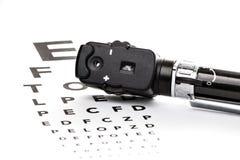 Офтальмоскоп на испытании зрения Стоковое Изображение