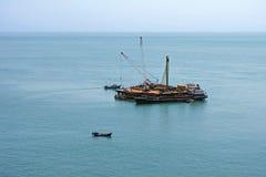 Оффшорная платформа бурения нефтяных скважин Стоковое Фото