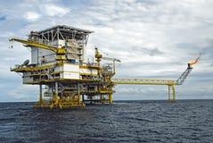 Оффшорная платформа продукции в Gulf of Thailand Стоковая Фотография RF