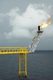 оффшорная платформа продукции в Gulf of Thailand Стоковая Фотография