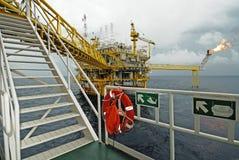 Оффшорная платформа продукции в Gulf of Thailand Стоковое фото RF