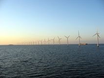 оффшорное windfarm 2 Стоковое Изображение