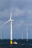 Оффшорное windfarm стоковое фото