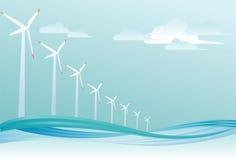 оффшорный ветер турбины Стоковое Изображение RF