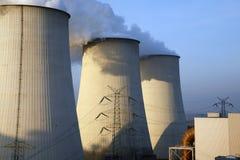 Охладители электростанции Стоковое Изображение