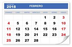 Охладите и представьте календарь 2018 иллюстрация штока