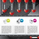 охладьте вебсайт шаблона технологии eleme конструкции иллюстрация штока