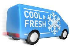 охладьте фургон поставки свежий иллюстрация штока