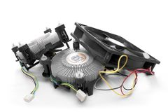 Охлаждая система вентиляции для компьютера Стоковые Фото