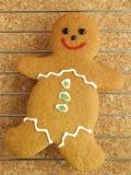 охлаждая человек gingerbread стоковое изображение rf