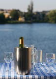 охлаженное вино Стоковые Изображения