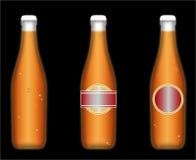 охлаженные бутылки пива Стоковые Изображения