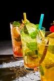 3 охлаженных освежая коктеиля плодоовощ Стоковое фото RF