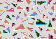 охладьте вычерченный спорт ботинок руки Стоковые Фото