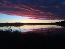 Охота захода солнца Стоковая Фотография