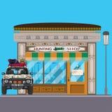 Охотиться иллюстрация вектора магазина плоская Стоковое Фото