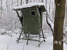 Охотиться слепая зима Стоковые Фото