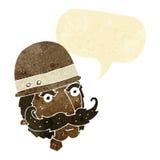 охотник важной игры шаржа викторианский с пузырем речи Стоковые Фотографии RF