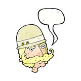 охотник важной игры шаржа викторианский с пузырем речи Стоковые Фото