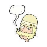 охотник важной игры шаржа викторианский с пузырем речи Стоковые Изображения RF