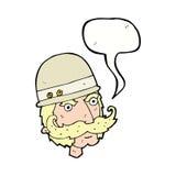 охотник важной игры шаржа викторианский с пузырем речи Стоковые Изображения