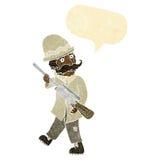 охотник важной игры шаржа с пузырем речи Стоковое фото RF