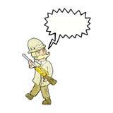 охотник важной игры шаржа с пузырем речи Стоковое Фото