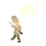 охотник важной игры шаржа с пузырем речи Стоковые Фото