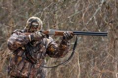 Охотник во время охоты Стоковое Фото