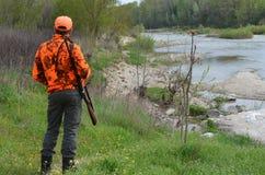 Охотник в Франции Стоковое Изображение