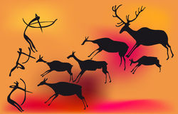 охотник доисторический Стоковые Фотографии RF