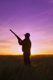 Охотник на заходе солнца Стоковые Фотографии RF