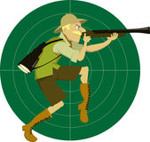 Охотник сафари иллюстрация вектора