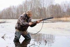 Охотник с оружием Стоковое Изображение RF