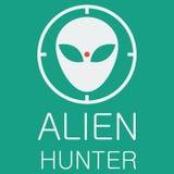 Охотник чужеземца вектора на зеленой предпосылке Стоковые Изображения