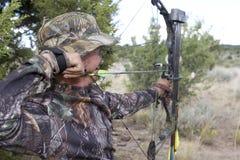охотник archery Стоковые Фотографии RF