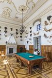 Охотясь Hall замка используемый как коридор перехода к галерее Стоковые Изображения RF