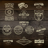 Охотящся логотипы значки и ярлыки для любых используют Стоковые Фото
