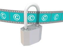 Охрана авторского права Концепция бесплатная иллюстрация