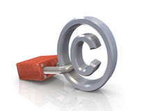охрана авторского права Стоковое Изображение RF