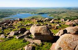 Охраняемая природная территория соотечественника гор Wichita стоковое фото rf