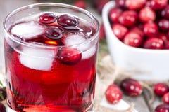 Охлаженный сок клюквы Стоковое Изображение