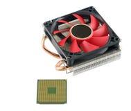 Охлаждающий вентилятор с heatsink и C.P.U. Стоковая Фотография