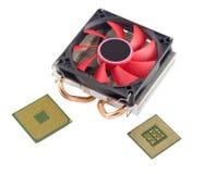 Охлаждающий вентилятор с heatsink и CP Стоковая Фотография RF