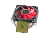 Охлаждающий вентилятор с heatsink и CP Стоковая Фотография