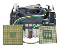 Охлаждающий вентилятор с heatsink и CP Стоковое Изображение RF