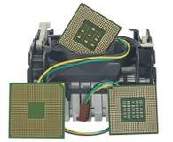 Охлаждающий вентилятор с heatsink и CP Стоковые Фотографии RF