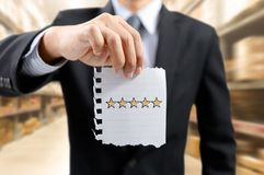 Оценка бизнесмена и звезды, победитель Стоковое фото RF