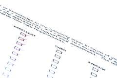 оценка качества работы Стоковые Фотографии RF