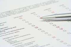 оценка качества работы Стоковые Изображения RF